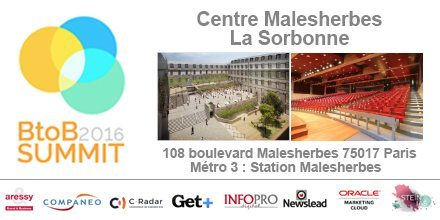 BtoB Summit 2016 Paris Sorbonne
