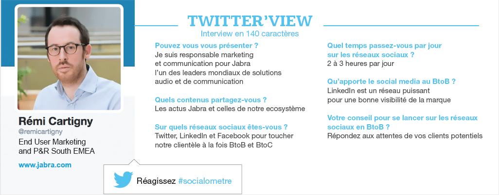 Twitterview Remi Cartigny