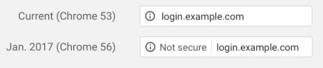 Message non securise SSL Google chrome 56