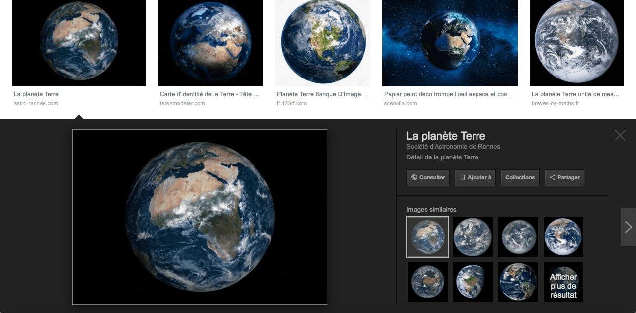 Page de résultat d'image de la planète terre