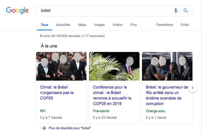 Articles A la Une sur Google