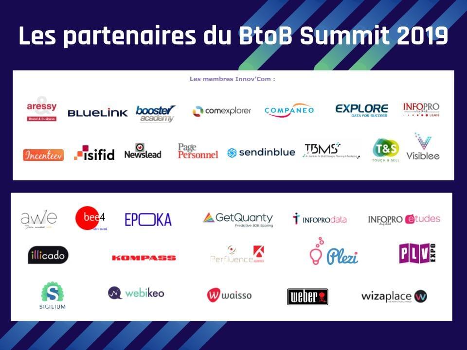 Les partenaires du BTOB SUMMIT 2019