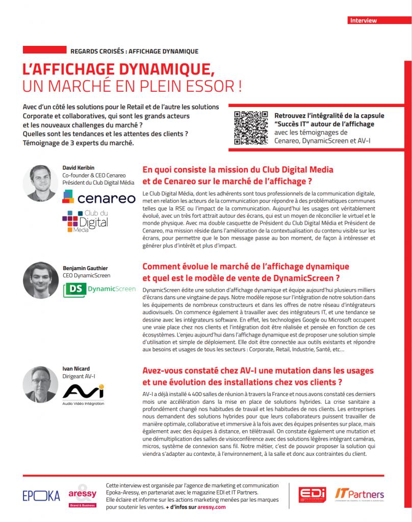 Visuel Article EDI - Affichage Dynamique