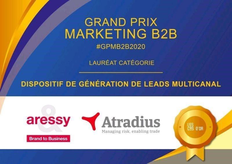 Aressy reçoit le Grand Prix Marketing pour la campagne digitale Atradius.