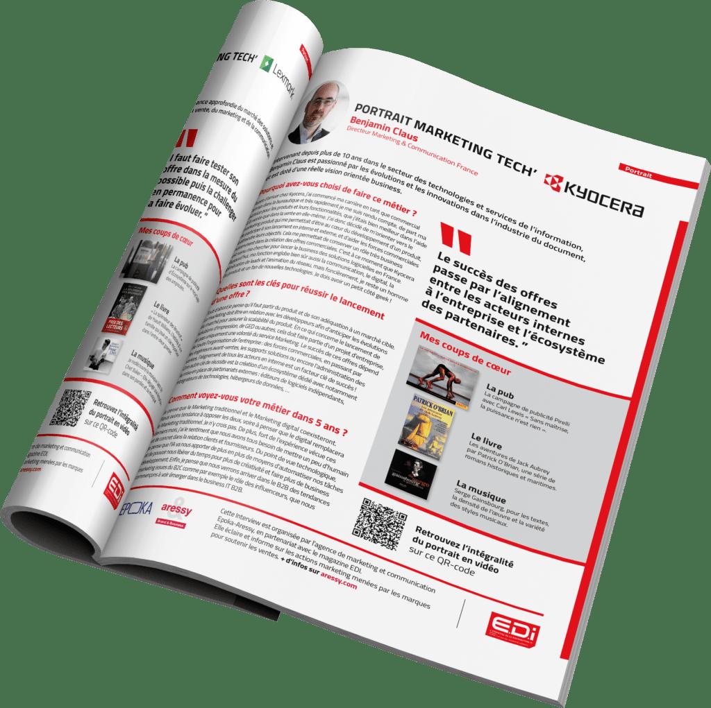 Article EDI portrait marketing Benjamin Claus